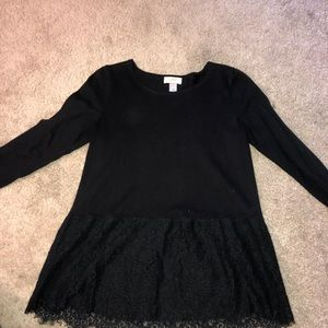 Business top with lace detail